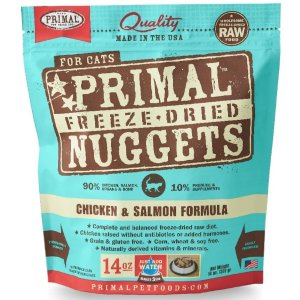 PrimalFreeze Dried Nuggets Grain Free Chicken and Salmon Formula Cat Food | Petflow
