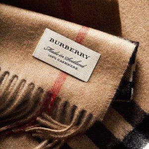 低至3.5折!换季提前囤Burberry 收最新款围巾、经典格纹 羊绒必备款仅$166