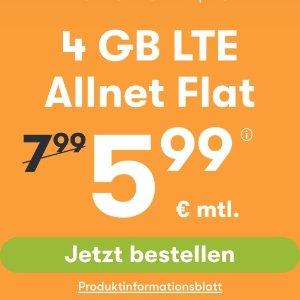 月租€5.99 免除€19.99接通费立省€68!每月送3GB!包月所有电话/短信+4GB上网+欧盟漫游