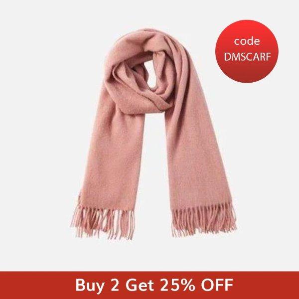 素色纯羊毛围巾
