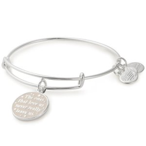 Alex and AniBuy 2 bracelets get 1 freeHarry Potter The Ones That Love Us Never Really Leave Us Charm Bangle Bracelet - Shiny Silver Finish