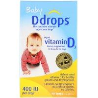 Ddrops 哺乳期婴儿维生素D3滴剂400IU 90滴