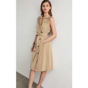 BCBGMAXAZRIASleeveless Trench Flared Dress