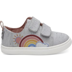 TomsGrey Multi Drizzly Weather Tiny TOMS Lenny Sneakers
