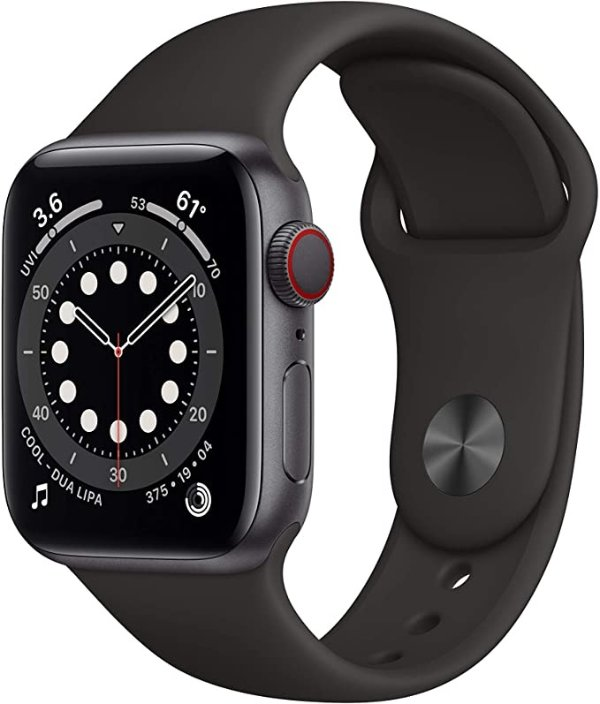 Apple Watch (GPS + 蜂窝网络, 40mm) 6代