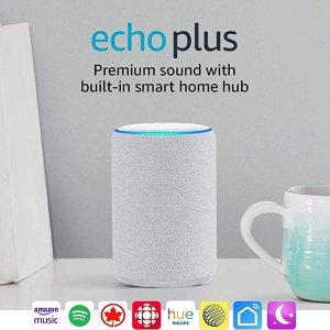 AmazonEcho Plus(砂岩白)