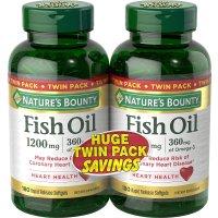 Nature's Bounty 鱼油 1200mg 2瓶 共360粒