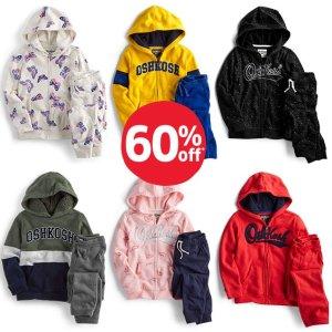 全场包邮+卫裤$6.6 卫衣$10.2 0-14岁码都有OshKosh BGosh 儿童实用卫衣 四季百搭 绒绒款新低价
