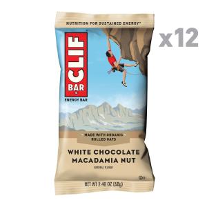 现价$5.68 一条只需$0.47CLIF BAR 白巧克力口味能量棒 2.4 oz 12条