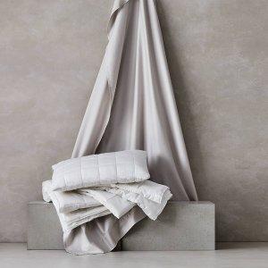 6折起 鸭绒被直降$132Sheridan 冬季床品大促 羊毛枕仅$48 华夫格盖毯$72