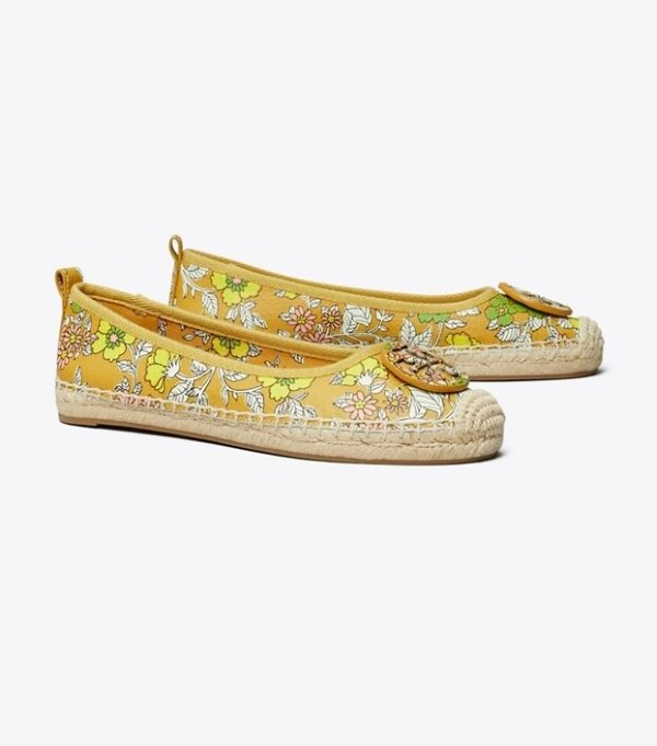 Minnie 草编芭蕾鞋