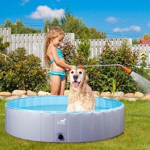 €23.99 原价€32.99闪购:Toozey 小型 后院折叠游泳池 儿童夏日嬉戏玩耍必备