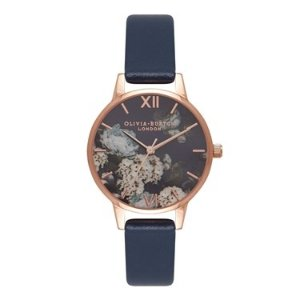 Olivia Burton25% off $165 purchaseSignature Floral Navy & Rose Gold Watch