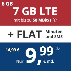 月租€9.99 代号入网送€6.82本周最划算! 包月电话/短信+7GB高速流量+欧盟漫游
