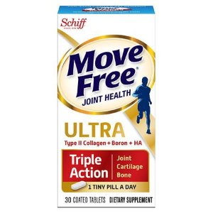 SchiffBuy 1 Get 1 Free + Extra 15% OffMove Free Ultra Triple Action with UCII, Coated Tablets