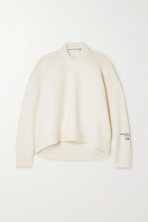 Embroidered 羊毛毛衣