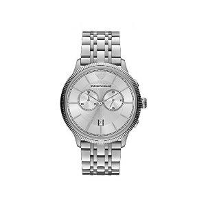 Emporio Armani银色经典计时男士手表