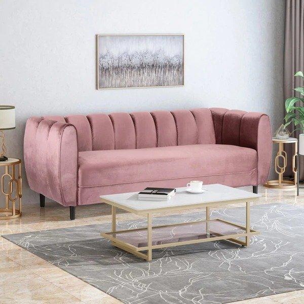 3人丝绒沙发
