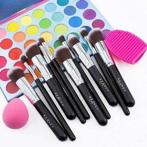 $12.99 (原价$14.99)BEAKEY 化妆刷+美妆蛋+清洁工具12件套装