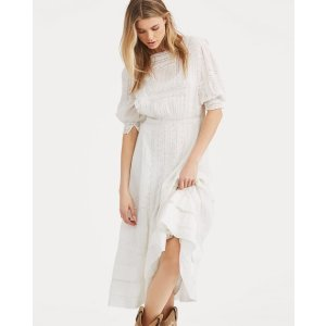 Ralph LaurenCotton Voile Midi Dress