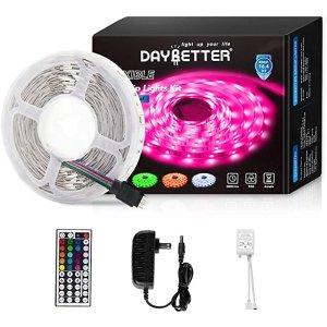 LED灯带16.4ft 5m RGB 5050 带红外遥控器