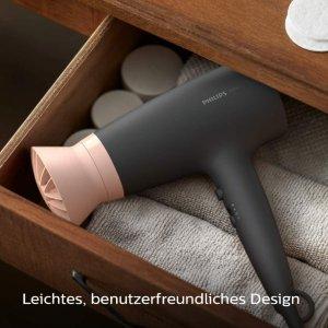 折后€17.99起 好评过万!Philips 吹风机 过热保护不伤发 3档温度调节 粉黑/粉白少女配色