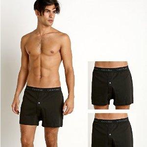 现价$39.86(原价$53.99)Calvin Klein 男士3件装纯棉经典针织平角内裤 S码