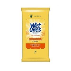 Wet OnesCitrus Antibacterial Hand Wipes, Tropical Splash - 20 ct
