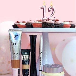 单件商品立减$12 低至5折IT Cosmetics  美妆周年庆 收明星CC霜