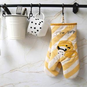 仅€6.99/双 厨房必备LUVSHINE 熊猫防烫手套 双层绝缘棉 可悬挂 保护手腕