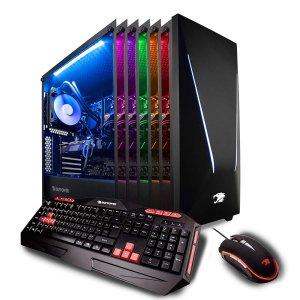 $1199iBUYPOWER Pro 游戏台式机(i7-9700k, RTX 2070, 16GB, 1TB+240GB)