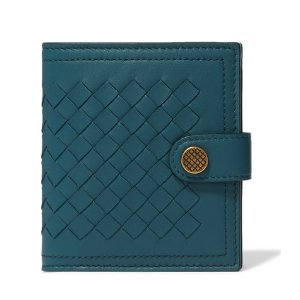 $595(原价$850)两色可选Bottega Veneta 经典编织钱包 低调的奢华