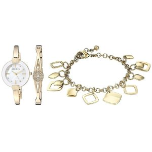 72edbe5d2fd Anne KleinWomen s AK 3264GBST Swarovski Crystal Accented Gold-Tone Bangle  Watch and Bracelet Set