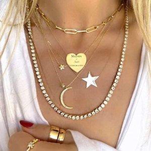 一律8折或满额送项链即将截止:Melinda Maria 全场饰品大促 一起穿金戴银