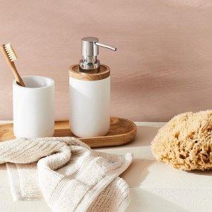 低至3折 有机棉浴巾套装$5起Adairs 浴室用品特价 真丝睡衣直降$150 2色可选