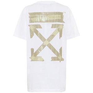 Off-WhiteOversized 白色 金logo t恤