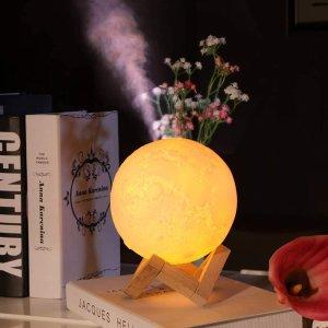 5折起 封面款月球灯$22Amazon 精选加湿器、精油灯特价 助眠好帮手