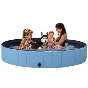 $36起 宅家玩水超方便独家:YAHEETECH 可折叠免充气 儿童/宠物两用泳池
