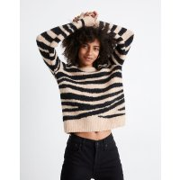 Madewell Shrunken Pullover Sweater in Tiger Stripe