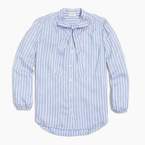 J.Crew蝴蝶结长袖衬衣