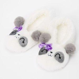 熊猫毛绒拖鞋