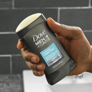 $9.42(原价$20.99) 包邮Dove 男士隐形止汗膏 2.7oz X 4支