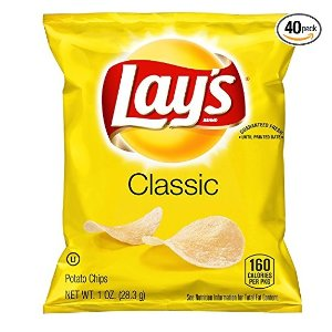 Lay's Classic Potato Chips 1 Ounce Pack of 40