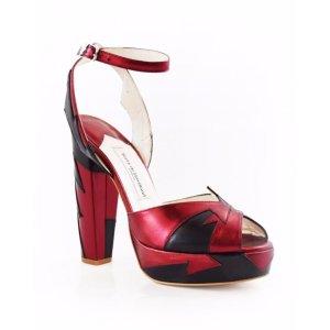 Zia Resort Red/Black - Terry de Havilland | Designer Luxury Shoes & Bags