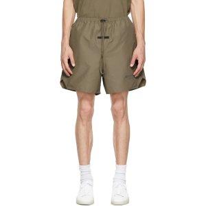 Essentials灰褐色短裤
