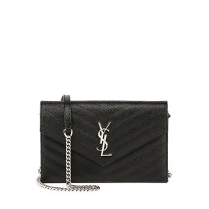 2b0f710b46f1 Saint LaurentUp to $300GC or double $600GCMonogram YSL Wallet on a Chain,  Black