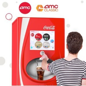 Free AMC movie ticketPour 2 Coke Freestyle drinks at AMC