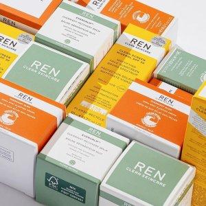 无门槛7.5折Ren Skincare 护肤产品热卖 收果酸焕肤水、急救面膜