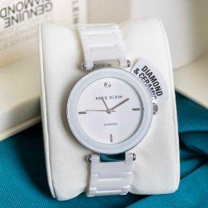 6.6折 $99.24(原价$148.99)新年礼物:Anne Klein AK/1019WTWT 纯白镶钻陶瓷女表