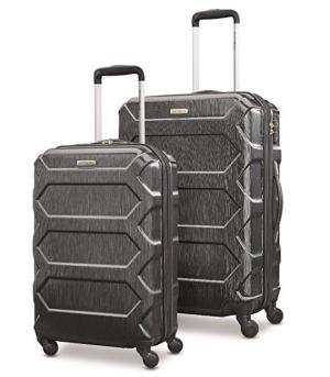 """$178.02(原价$559.99)Samsonite Magnitude Lx 硬壳黑色行李箱2件套(20""""+24"""")"""